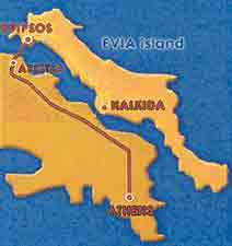 The map of Evia