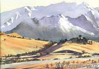 Watercolor paintings for sale of French landscapes