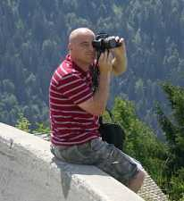 Photographer in the Alps