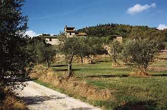 Cortona rental cottage with Lake Trasimeno views