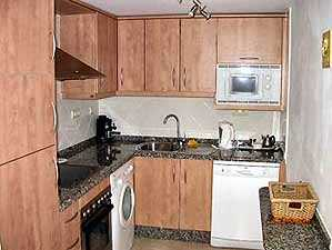 Holiday villa rental kitchen
