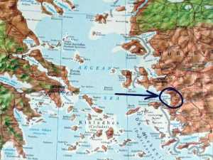 Map of Turkey and Agean Sea