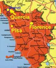 Map of Lunigiana Tuscany apartment for rental in Aulla near Pisa and Florence