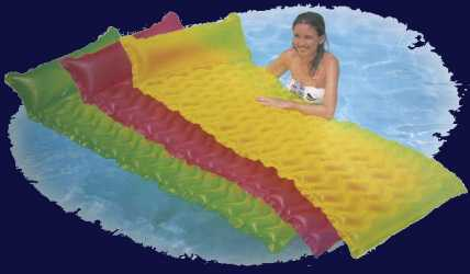 inflatable beach mat for pool or camping