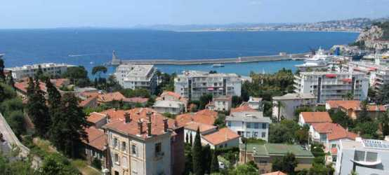 Cote d'Azur holiday rental apartment on the French Riviera France overlooking Nice harbour