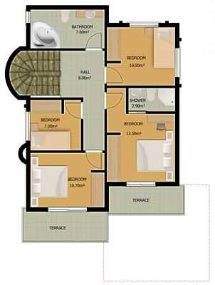 Villa for sale - downstairs floor plan